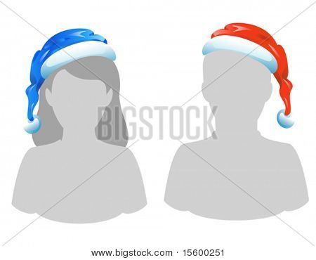 santa's hat template (you can easily put it on your friend's head)