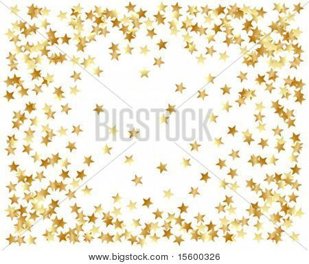 vector frame of gold confetti