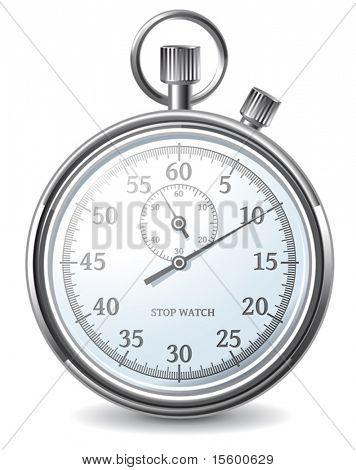 vector stopwatch (no meshes or transparencies, only gradients)