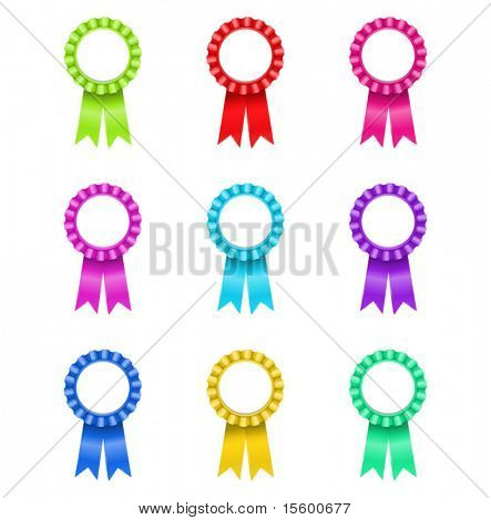 Vector Illustration of Award Rosette (nur Verläufe)
