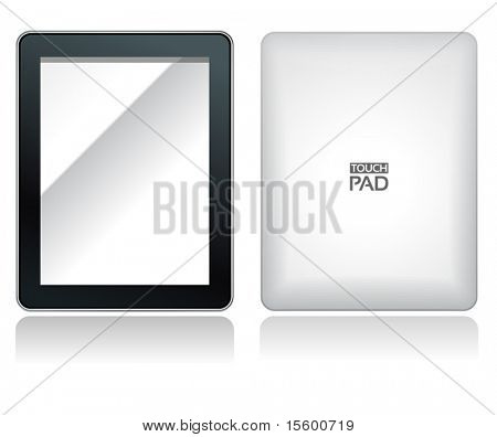 fictitious touch pad without buttons with fictitious name on it