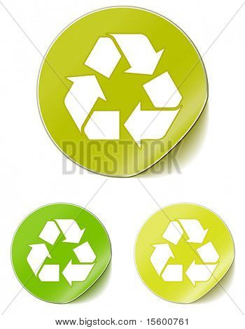 vector sticker recycle