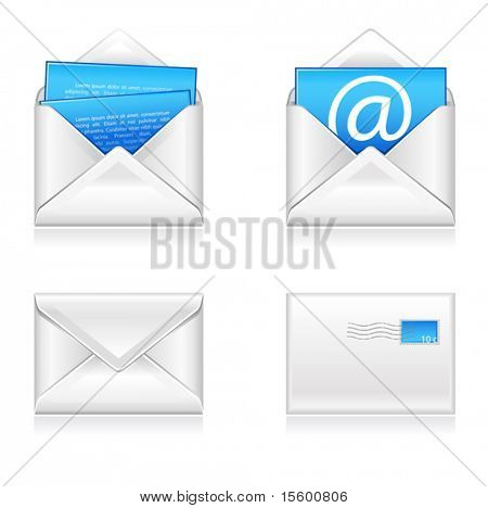 vector illustration of email icons