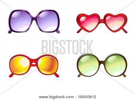 vector illustration sunglasses set