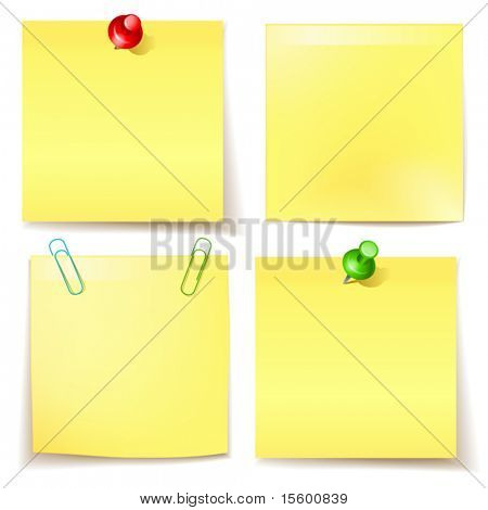 vector sticky paper set