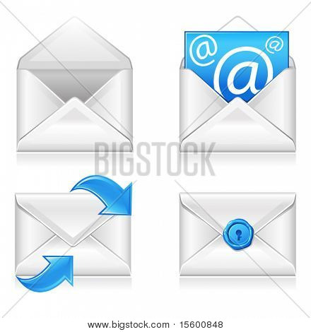 vector email icons set2