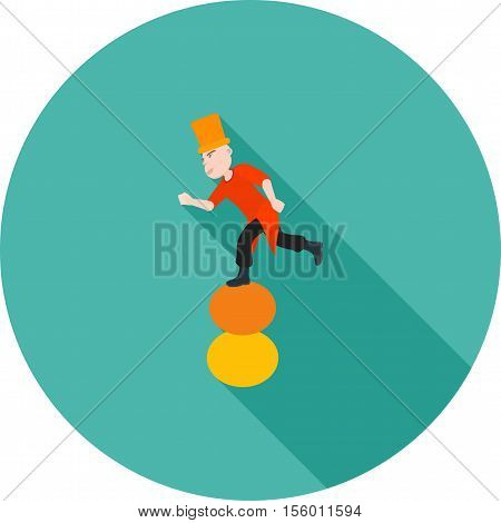 Juggling, stick, balls icon vector image. Can also be used for circus. Suitable for use on web apps, mobile apps and print media.
