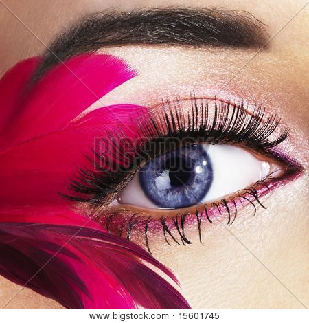 Beautiful woman eye close-up