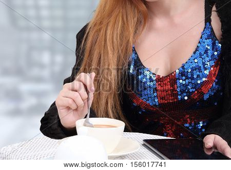 Woman And Coffee