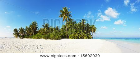 Tropical paradise. Beautiful panorama of tropical island.