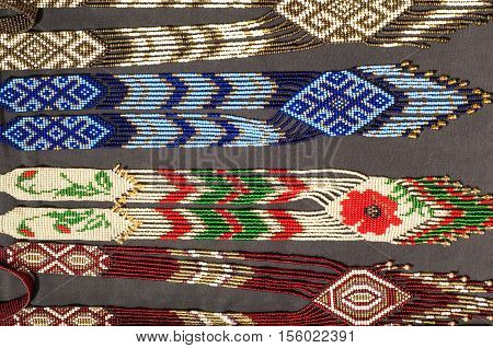 Indian, Injun, Red Man, Redskin, Red Indian, Pampean.  Indian Beadwork