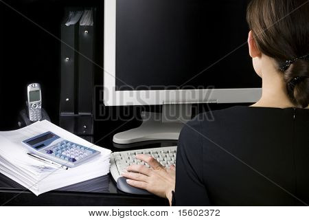 Businesswoman at her workplace