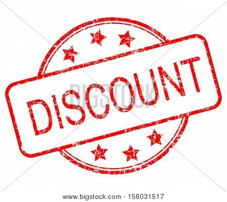 red Discount rubber stamp on white background - illustration