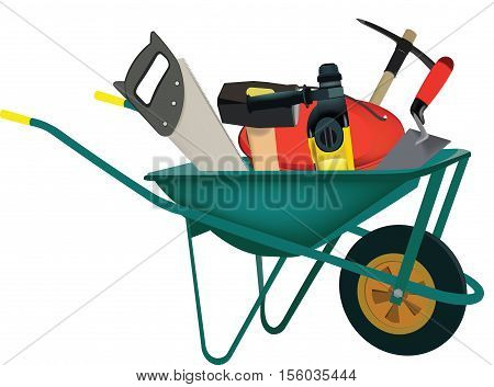 transport wheelbarrows accessories and construction tools materials transport and housing construction symbol