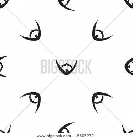 Man's beard icon in black style isolated on white background. Beard pattern symbol vector illustration.