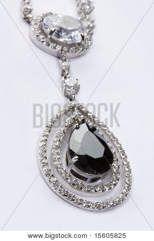 Pendant with black gem