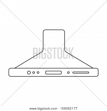 Exhaust hood icon in outline style isolated on white background. Household appliance symbol vector illustration.