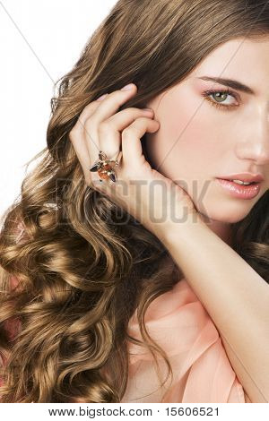 Beauty with wavy hair