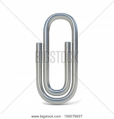 Paper clip. 3D render illustration isolated on white background