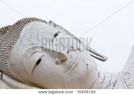 Closeup Reclining Of Buddha In Temple