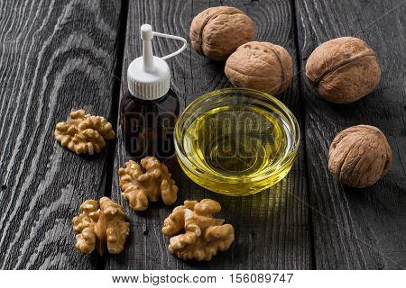 Walnuts in shell shelled walnuts food and cosmetic walnut oil. It is used in dietary and healthy nutrition skin care. The source of vitamins and polyunsaturated fatty acids