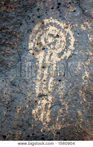 Spiral, Circle And Shield Petroglyph