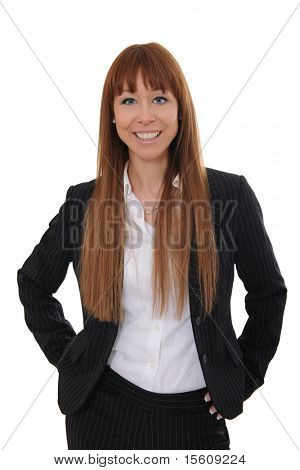 portrait of  a happy and confident businesswoman