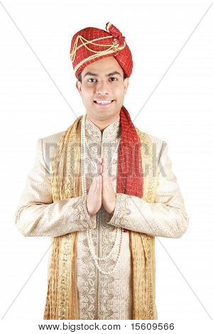 Indian In Traditional Clothes.