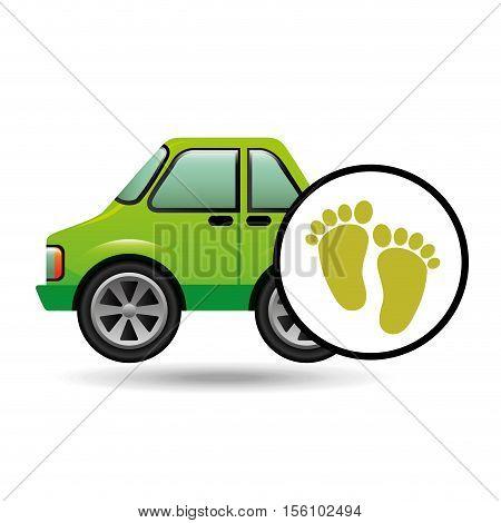 green ecology car footprint concept vector illustration eps 10