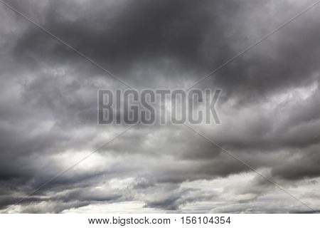 clouds photographed gray monochrome colors in cloudy weather. Autumn season