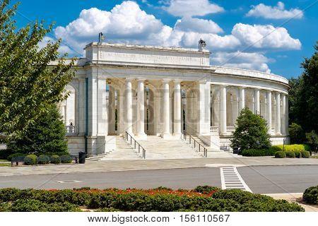 The Arlington Memorial Amphitheater at Arlington National Cemetery near Washington D.C.