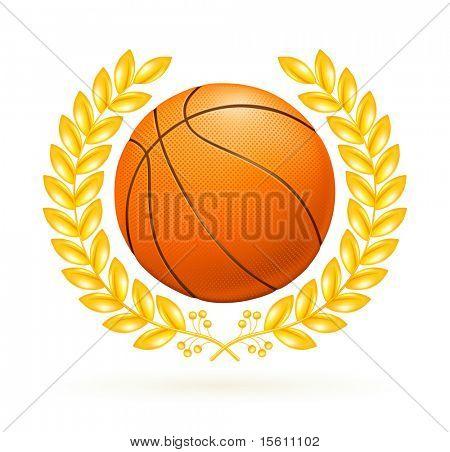 Basketball emblem, bitmap copy