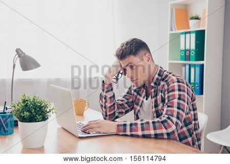 Exhausted Ponder Manager Thinking How To Create New Plan