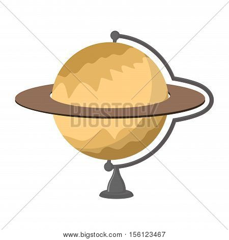 Saturn School Globe. Planet Geographical Sphere. Model Of  Planet Saturns Rings. Astronomical Object