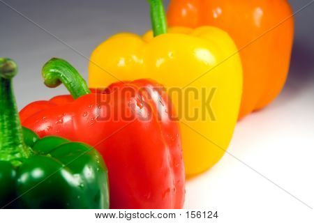 Four Wet Peppers