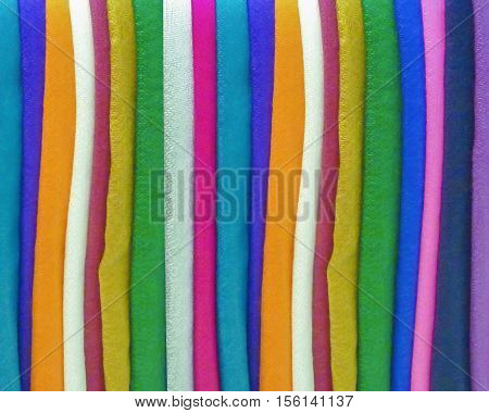 Vertical stripes pattern colored fabric textiles motif detail background