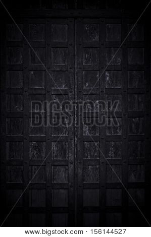 Rough textured old black wooden photo background