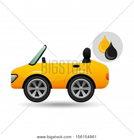 sport car drop oil gasoline vector illustration eps 10