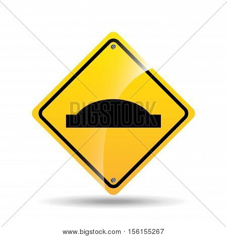 road sign uneven icon design vector illustration eps 10