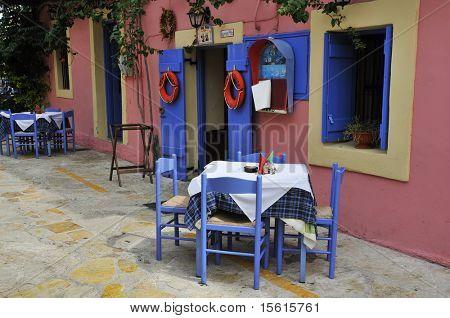 Greek taverna with terrace
