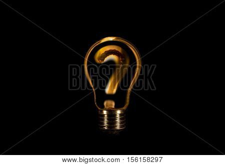 Question Mark Inside A Bulb