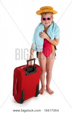 child is traveling for vacation