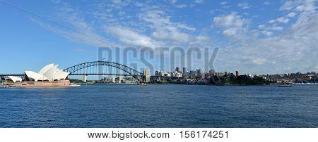 Panoramic View Of Sydney Skyline