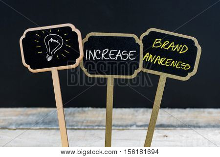 Concept Message Increase Brand Awareness And Light Bulb As Symbol For Idea