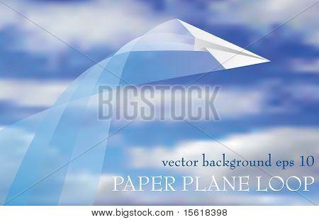 Lazo de avión de papel