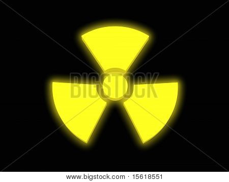 Yellow Glowing Radiaoactivitiy Sign
