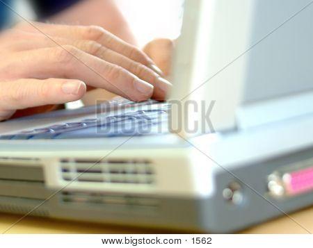 Laptop Closeup poster