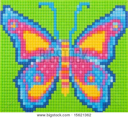 Handmade creative butterfly with toys in many colors