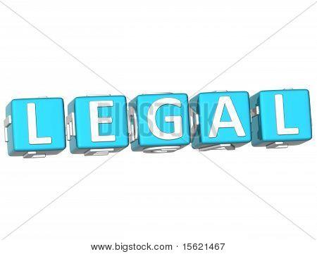 Legal Cube Text