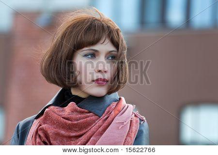 Beautiful Woman On A Street